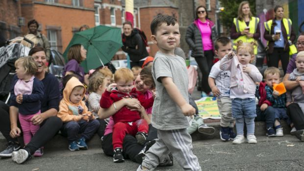 Having fun at the Playful Street event on Sheriff Street, Dublin 1. Photograph: Paul Kelly