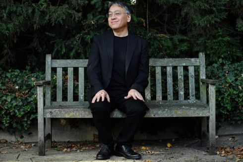 "MAGNIFICENT HONOUR: British author Kazuo Ishiguro holds a press conference in London after being awarded the Nobel Prize for Literature. Ishiguro (62), said winning the 2017 Nobel Prize for Literature was a ""magnificent honour"" and ""flabbergastingly flattering"". Photograph: Ben Stansall/AFP/Getty Images"