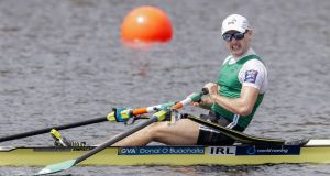 Paul O'Donovan: the World Championship gold medalist faces a busy programme in the coming weeks.  Photograph: Erik S Lesser/EPA