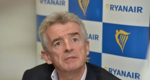 Ryanair chief executive Michael O'Leary issued the letter 'to all pilots'. Photograph: Alan Betson