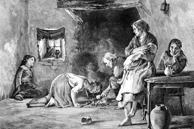 An Irish Famine illustration from The life and Times of Queen Victoria by Robert Wilson (1900). Photograph: The Print Collector/Print Collector/Getty Images