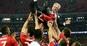 Jupp Heynckes after winning the Champions League final with Bayern Munich in 2013. Photograph: PA
