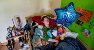 "Brendan Maginnis (13) has severe cerebral palsy, uncontrolled epilepsy and scoliosis: the Irish Disability Federation has said there is a ""dire lack of appropriate housing"" for people with disabilities. Photograph: Brenda Fitzsimons/The Irish Times"