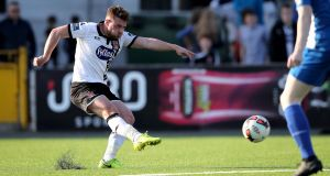 Dundalk's Conor Clifford  will not be available to play again until April 2nd. Photograph: Ryan Byrne/Inpho