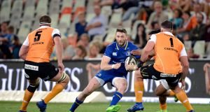 Barry Daly:  Leinster's in-form winger has scored four tries in two games against Cardiff and the Cheetahs. Photograph: Gerhard Steenkamp/Inpho