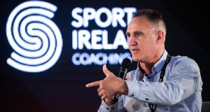 USA boxing coach Billy Walsh at Sport Ireland HPX conference in Dublin.  Photograph: Diarmuid Greene