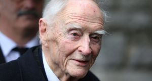 The funeral takes place today of former taoiseach Liam Cosgrave who died aged 97. Photograph: Niall Carson/PA Wire