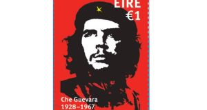 An Post has issued a one euro stamp featuring the face of Che Guevara, a leading figure in the Cuban Revolution of the 1950s and 1960s.