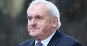 Former taoiseach Bertie Ahern arrives for the funeral of Liam Cosgrave. Photograph: Niall Carson/PA Wire