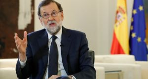 Spanish prime minister Mariano Rajoy said 'I don't rule out absolutely anything that is within the law'.  Photograph: Angel Diaz/EPA