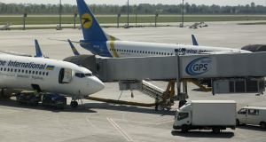 Ukraine International Airlines airplanes at Kiev's Boryspil airport: a planned deal collapsed when the  airport rejected it as economically unviable. Photograph: Getty Images