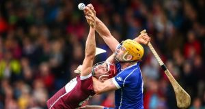 Thurles Sarsfields captain Pádraic Maher challenges Borris-Ileigh's Niall Kenny during the Tipperary SHC Final at Semple Stadium. Photograph:  Cathal Noonan/Inpho