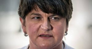 "Arlene Foster:  ""What we can't see happening is the Gaelicisation of areas where there is no desire or demand for the Irish language."" Photograph: Getty Images"