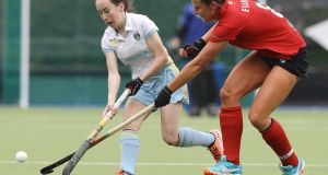 Abbie Russell: was on target for UCD in the big win over Belfast Harlequins. Photograph: Lorraine O'Sullivan:/Inpho