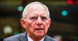 German Finance Minister Wolfgang Schaeuble, the warhorse of the eurozone debt crisis, will attend his final meeting of eurozone ministers on Monday, October 9, 2017, as variously the most loathed or loved figures in EU politics. (Photograph: JOHN THYSJOHN THYS/AFP/Getty Images)