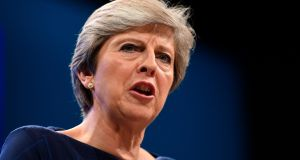 British prime minister Theresa May will say her government is seeking a 'deep and special partnership' between the UK  and a strong and successful EU. Photograph: AFP