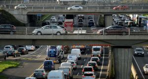 Traffic flows on the M50 are rising every year and now exceed 120,000 vehicles per day. Photograph: Alan Betson