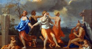 Anthony Powell insists he was inspired by Nicholas Poussin's painting, 'A Dance to the Music of Time'