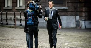 Dutch prime minister Mark Rutte:  new four-party coalition will exclude the far-right Freedom Party and its leader Geert Wilders. Photograph: EPA