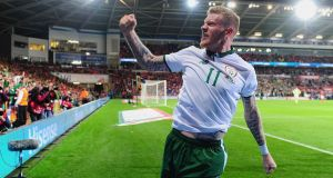James McClean's goal gave Ireland a 1-0 win over Wales in Cardiff. Photograph: Harry Trump/Getty