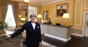 Bernie O'Meara, front of house manager at The Merrion Hotel, Dublin.Photograph: Dara Mac Dónaill/The Irish Times