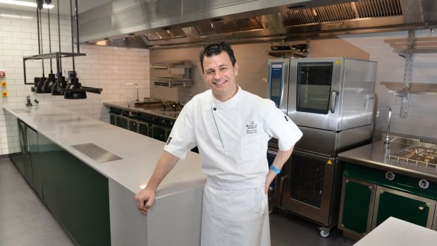 Chef Ed Cooney in the new kitchen at The Merrion Hotel restaurant Dublin.Photograph: Dara Mac Dónaill/The Irish Times