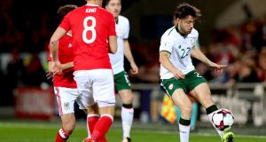 Ireland's Harry Arter in action against Wales during their World Cup qualifier in Cardiff. Photo: James Crombie/Inpho