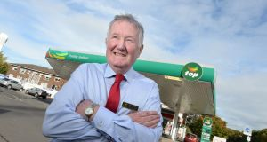 Seán Carroll, at the Top service station on the Howth Road, Raheny, Dublin. Photograph: Dara Mac Dónaill/The Irish Times