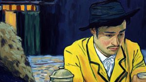 Loving Vincent: Armand Roulin (Douglas Booth) wears the yellow jacket immortalised by Van Gogh