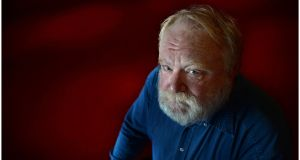 Playwright Frank McGuinness photographed in the Abbey Theatre, Dublin. Photograph: Brenda Fitzsimons/The Irish Times