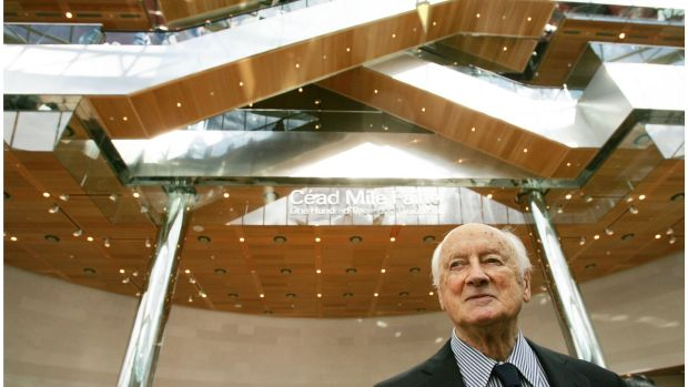 Architect Kevin Roche at the Convention Centre Dublin. Photograph: Bryan O'Brien / The Irish Times