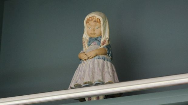 Nina, a china doll that Carmel Harrington treasures