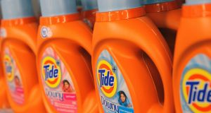 Bottles of Procter and Gamble's Tide laundry detergent.  P&G declared victory in a bid to keep  investor Nelson Peltz off its board. Photograph: Andrew Kelly/Reuters