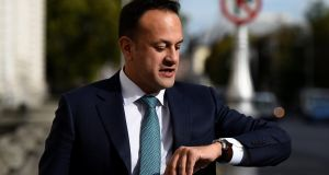 Taoiseach Leo Varadkar outside Government Buildings, Dublin on Tuesday. Photograph: Clodagh Kilcoyne/Reuters