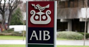 AIB confirmed earlier this month that it plans to set up a holding company at the top of its corporate structure. Photograph: Cyril Byrne