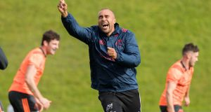 "Simon Zebo: ""Simon looks good to go,"" said Erasmus. ""I think he will be available this weekend."" Photograph: Morgan Treacy/Inpho"