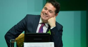 At a press briefing on Tuesday evening, Paschal Donohoe said his department has carefully assessed the level of activity currently under way in the commercial property sector. Photograph: Dara Mac Donaill