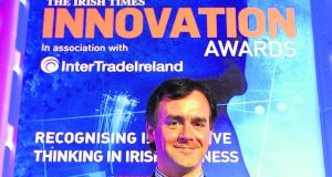 Ivan Coulter from Sigmoid Pharma, winner of the inaugural 'Innovation of the Year' Award and also named winner of the Application of R&D Category.