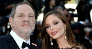 US producer Harvey Weinstein and his wife Georgina Chapman arrive at 68th annual Cannes Film Festival in May 2015. Photograph: Franck Robichon/EPA/Pool