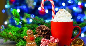 Christmas special: peppermint hot chocolate with a candy cane, available at Carters, Waterford. Photograph: iStock