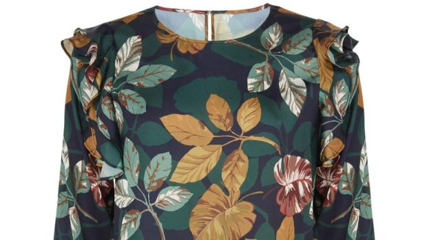 Frill and leaf print blouse, €34 from M&S