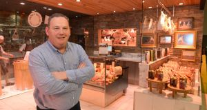 Pat Whelan, who runs James Whelan Butchers at the shop in Dunnes Stores, Swan Centre, Rathmines, Dublin. Photograph: Dara Mac Dónaill