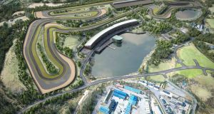 On course: the finished Lake Torrent track will be a 3.6km course, with 12 corners, attended by the usual collection of pit, paddock and support buildings