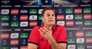 Munster's Rassie Erasmus has an encyclopedic knowledge of Top 14 sides simply because  future role as South Africa's coach  demands it. Photograph: Morgan Treacy/Inpho