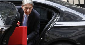 UK chancellor Philip Hammond arriving at  10 Downing Street  on Wednesday. Photographer: Luke MacGregor/Bloomberg