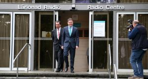 Stepping out: Minister for Finance Paschal Donohoe leaving RTÉ Radio Centre after his appearance on Today with Sean O'Rourke on RTÉ Radio 1. Photograph: Colin Keegan/Collins