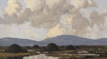 'West of Ireland Bog' by Paul Henry  made €100,000 at Whyte's – the top price in the Dublin autumn art auctions