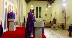 Fr Pierre Pepper delivers mass at St Rynagh's Roman Catholic Church in the village of Banagher County Offaly in March 2nd, 2015. File photograph: Cathal McNaughton/Reuters
