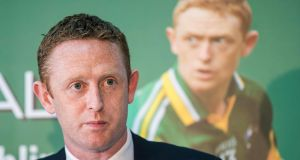 Colm Cooper at last month's press conference for his testimonial dinner. Photograph: Inpho