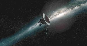 Voyager mission in outer space
